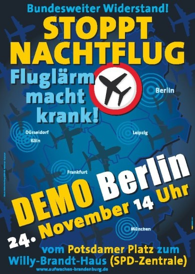 Fluglärm-Demonstration am 24.11.2012 in Berlin