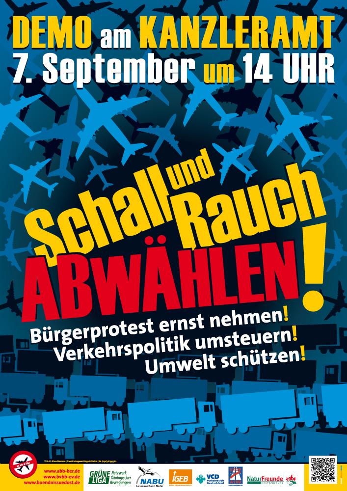 Fluglärm-Demonstration am 07.09.2013 in Berlin